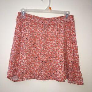Super Soft & Cute Pink& Floral Skater Skirt